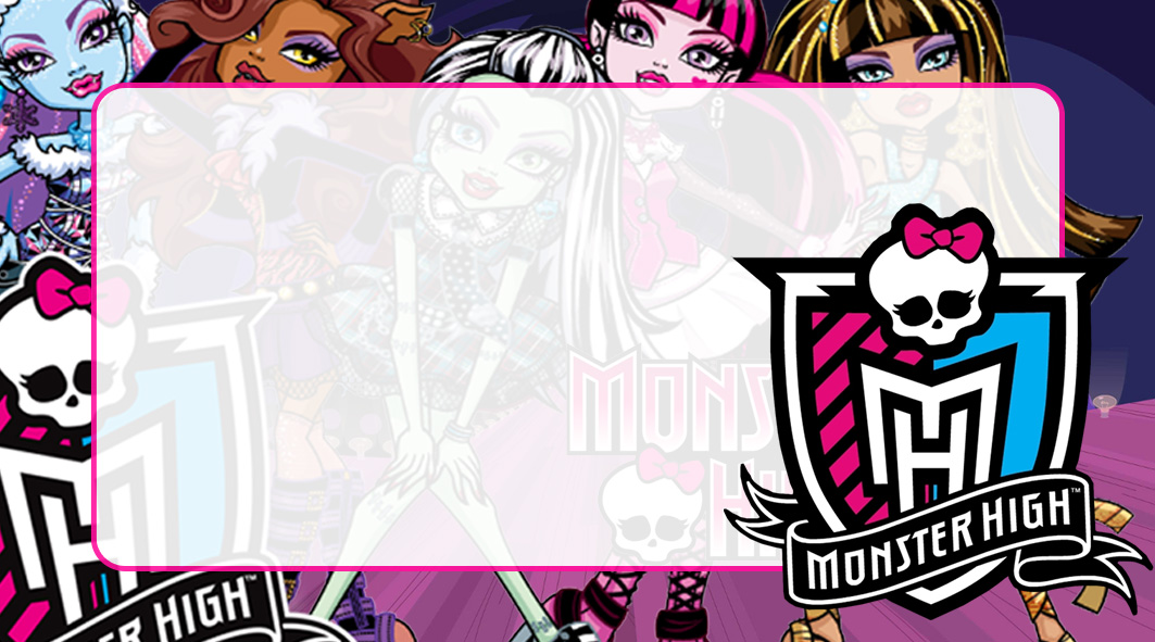 Monster High Etiqueta Escolar para Imprimir