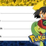 Pokémon Etiqueta Escolar para Imprimir