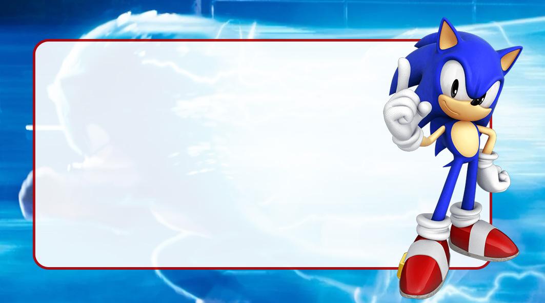 Sonic Etiqueta Escolar para Imprimir