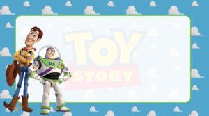 Toy Story Etiqueta Escolar para Imprimir