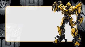Transformers Etiqueta Escolar para Imprimir
