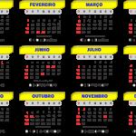Base Calendário 2020 Amarelo e Azul