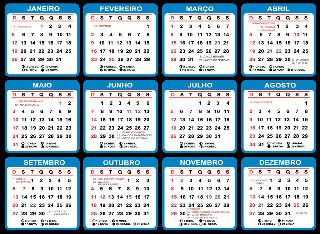 Calendario 2020 Com Feriados Para Impressao.Grade Calendario 2020 Varios Modelos Para Baixar Png Psd