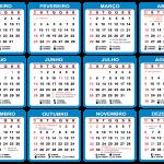 Base Calendário 2020 Azul