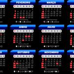 Base Calendário 2020 Azul Degradê