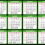 Base Calendário 2020 Verde