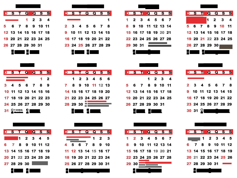 Calendario De 2020 Brasil.Base Quatro Por Tres Calendario 2020 Simples Imagem Legal