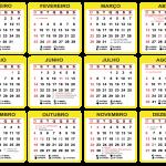 Grade Calendário 2020 Amarelo