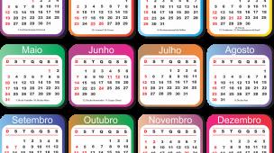 Calendario 2020 Portugues Com Feriados.15 Modelos De Grade Calendario 2019 Simples E Coloridas