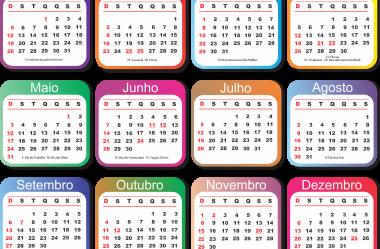 Grade Calendário 2020 Vários Modelos para Baixar – PNG, PSD, CDR