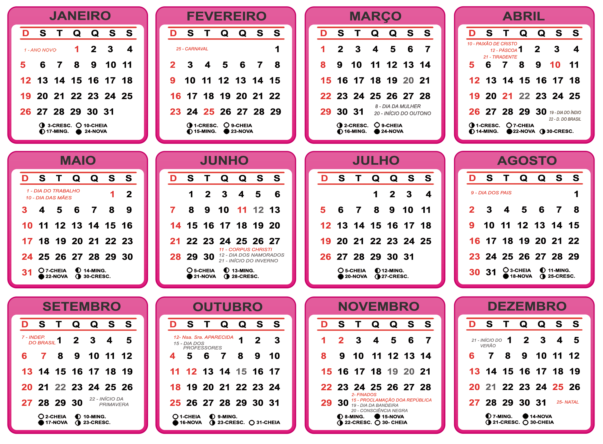 Calendario Rosa Png.Grade Calendario 2020 Cor De Rosa Imagem Legal