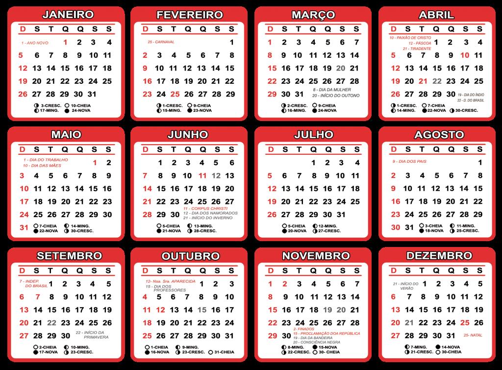 Calendario 2020 Com Feriados.Grade Calendario 2020 Varios Modelos Para Baixar Png Psd