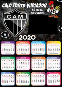 Calendário 2020 do Atlético Mineiro PNG