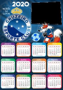 Calendário 2020 do Cruzeiro PNG