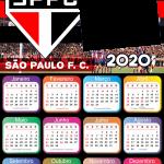Calendário 2020 do São Paulo PNG