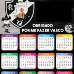 Calendário 2020 do Vasco PNG