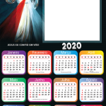 Calendário 2020 Jesus Eu Confio Moldura PNG