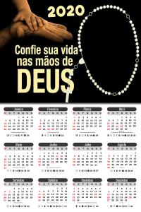 Moldura PNG Calendário 2020 Confie Sua Vida