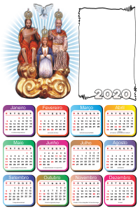 Moldura PNG Calendário 2020 Divino Pai Eterno