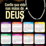 Moldura PNG Calendário 2020 Mãos de Deus