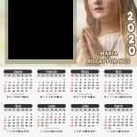 Moldura PNG Calendário 2020 Maria Rogai por Nós