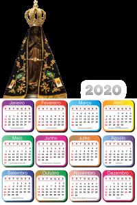 Moldura PNG Calendário 2020 Nossa Senhora Aparecida