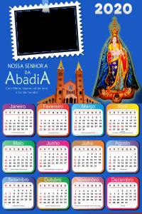 Moldura PNG Calendário 2020 Nossa Senhora da Abadia