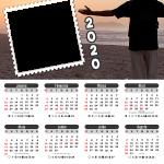 Moldura PNG Calendário 2020 Obrigado Deus por Mais um Dia