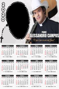 Moldura PNG Calendário 2020 Padre Alessandro Campos