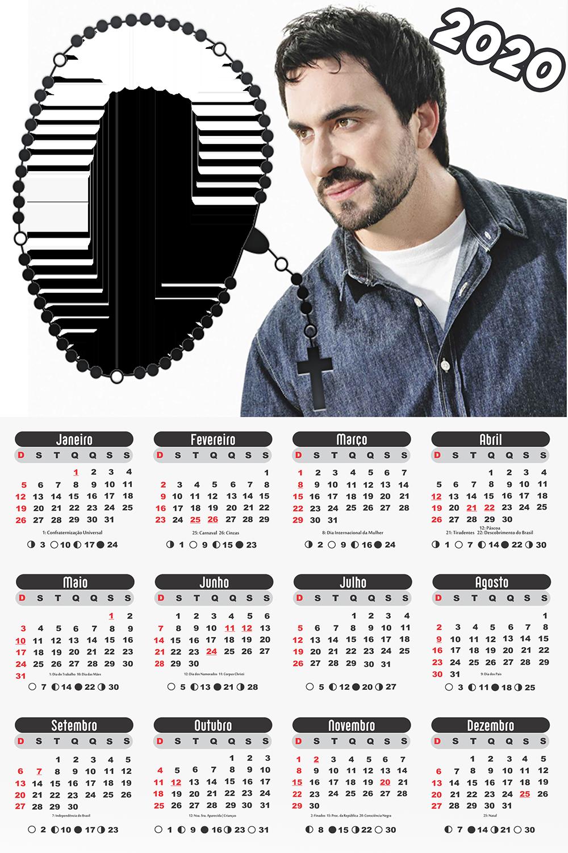 Moldura PNG Calendário 2020 Padre Fábio de Melo