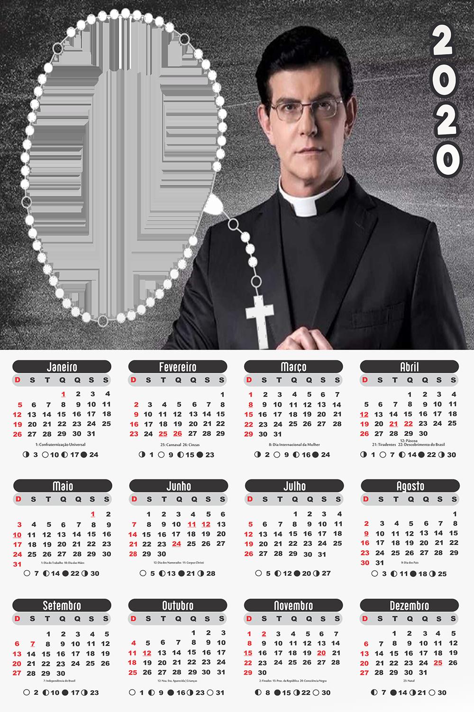 Moldura PNG Calendário 2020 Padre Reginaldo Manzotti