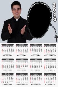 Moldura PNG Calendário 2020 Padre Robson Trindade