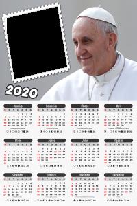 Moldura PNG Calendário 2020 Papa Francisco