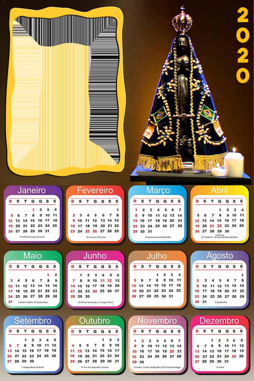 Moldura PNG Calendário 2020 da Nossa Senhora