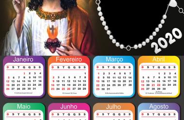 Moldura Calendário 2020 Tema Religioso