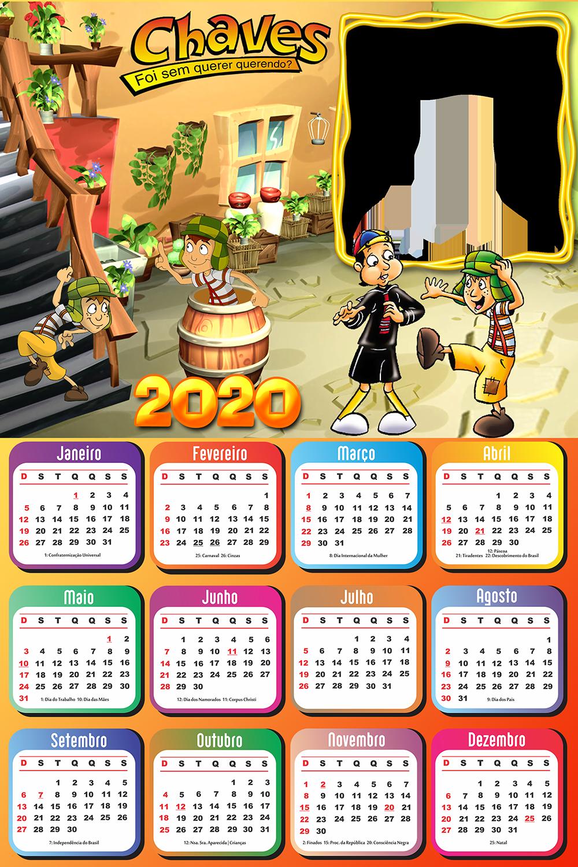 Calendario 2020 Desenho Do Chaves Moldura Imagem Legal
