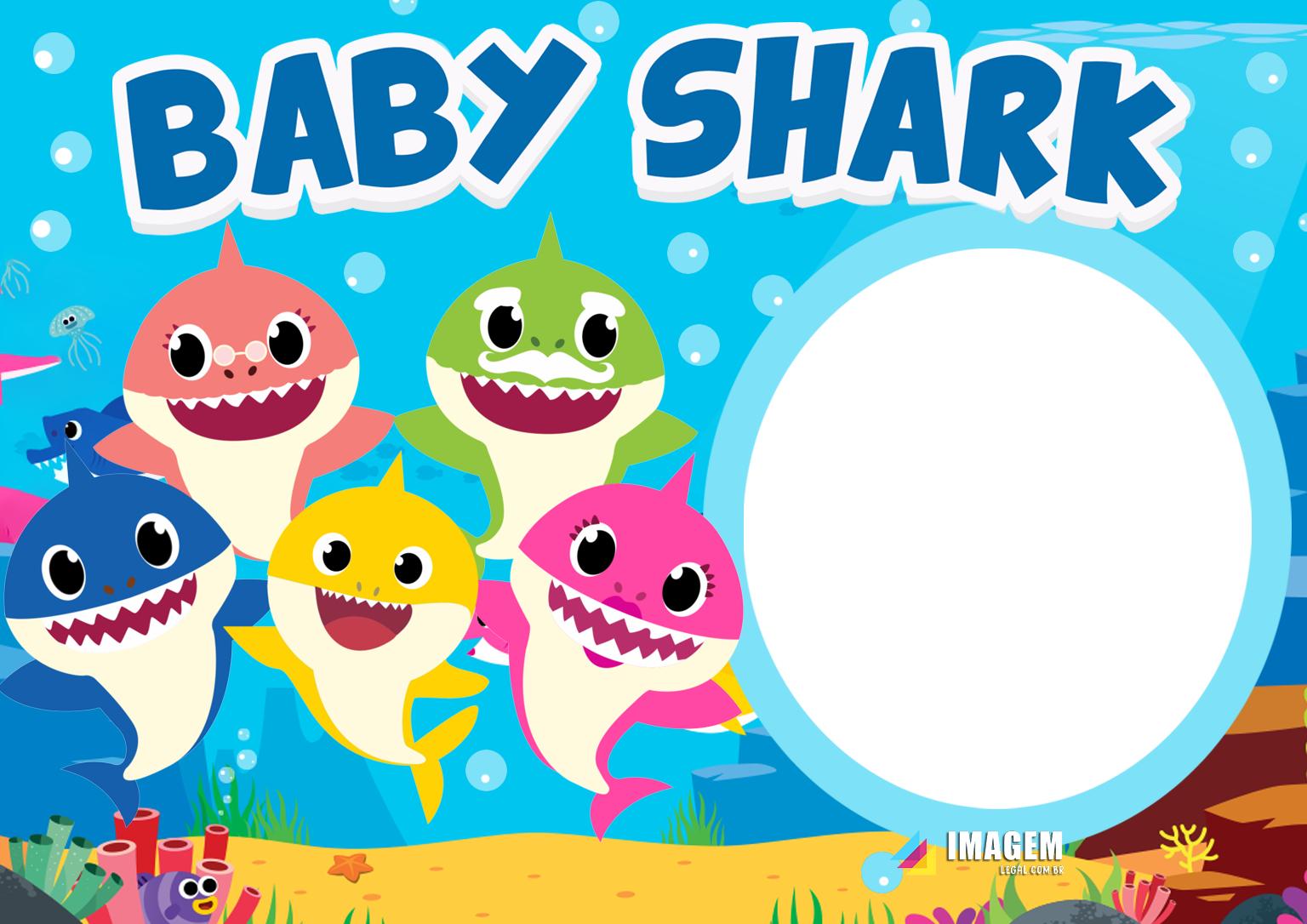 Baby Shark Moldura PNG