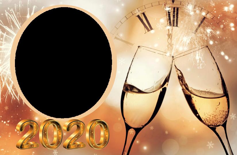 Colagem de Foto Ano Novo 2020 Moldura PNG | Imagem Legal