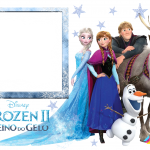 Frozen 2 Reino do Gelo Moldura PNG