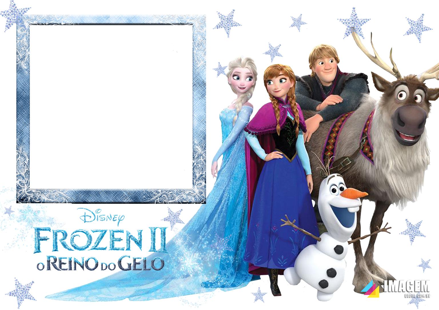 Frozen 2 Reino do Gelo Moldura PNG