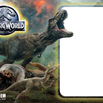 Jurassic World Moldura PNG