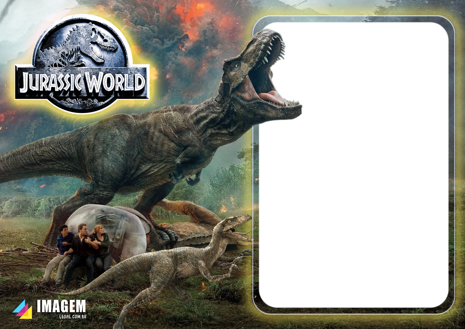 Jurassic World Moldura PNG