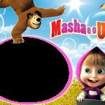 Masha e o Urso Moldura PNG
