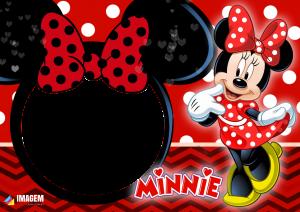 Minnie Vestido Vermelho Moldura PNG