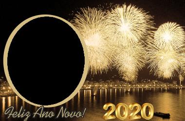 Molduras Ano Novo 2020 Réveillon em PNG para Montagem de Foto