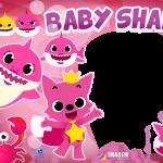 Baby Shark Rosa Moldura PNG
