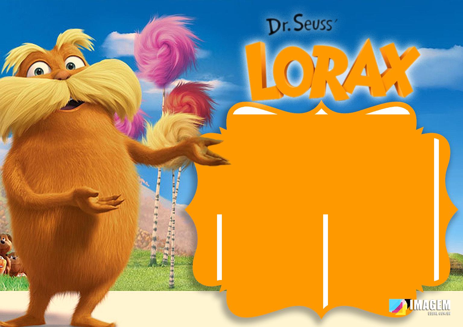 Lorax Moldura PNG