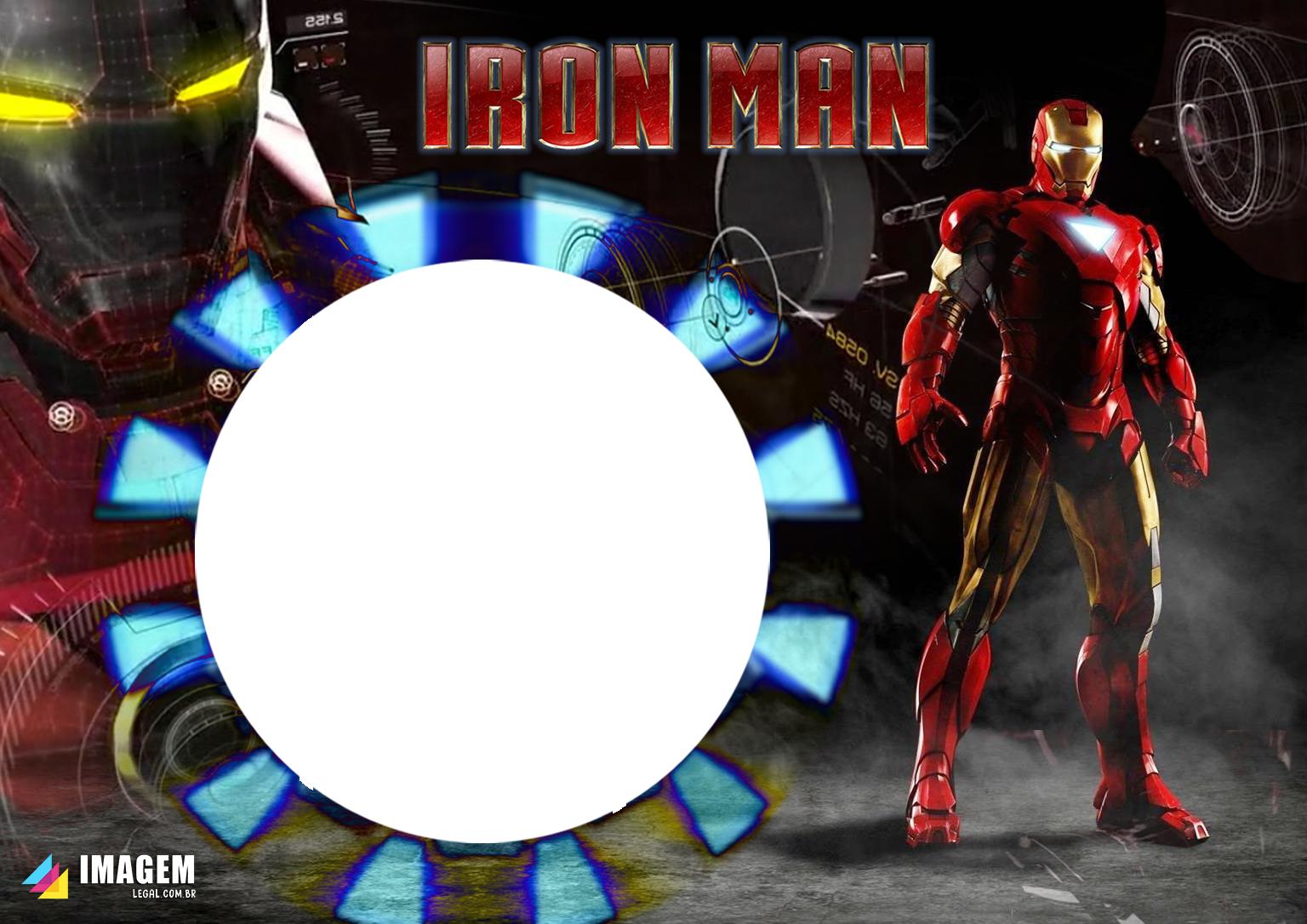 Moldura PNG Homem de Ferro