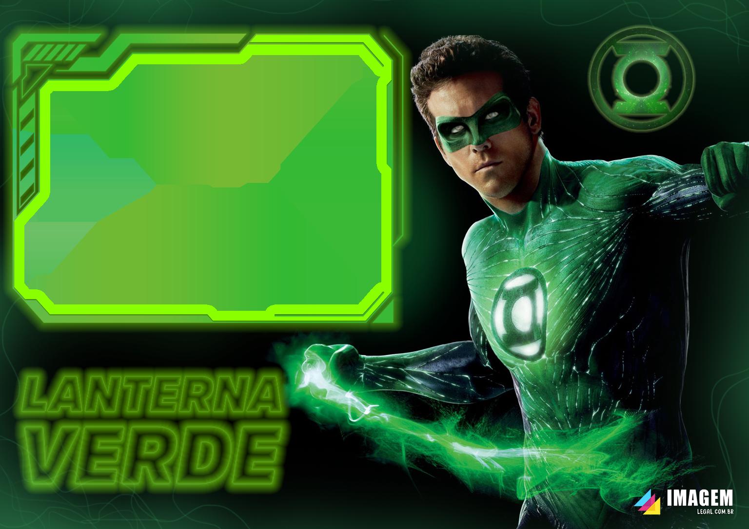Moldura PNG Lanterna Verde