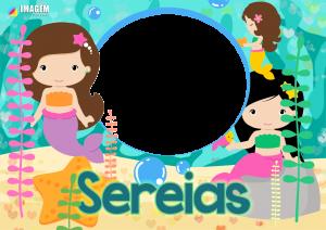 Moldura PNG Sereia